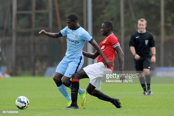 Barclays Premier Academy League Manchester City U18 v Manchester United U18 Platt Lane Manchester City's Isaac BuckleyRicketts and Manchester...