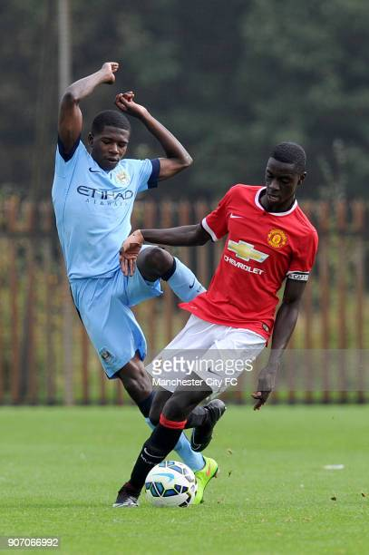 Barclays Premier Academy League Manchester City U18 v Manchester United U18 Platt Lane Manchester City's Isaac BuckleyRichards and Manchester...