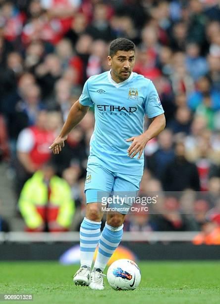 Barclays Premier League Arsenal v Manchester City Emirates Stadium David Pizarro Manchester City