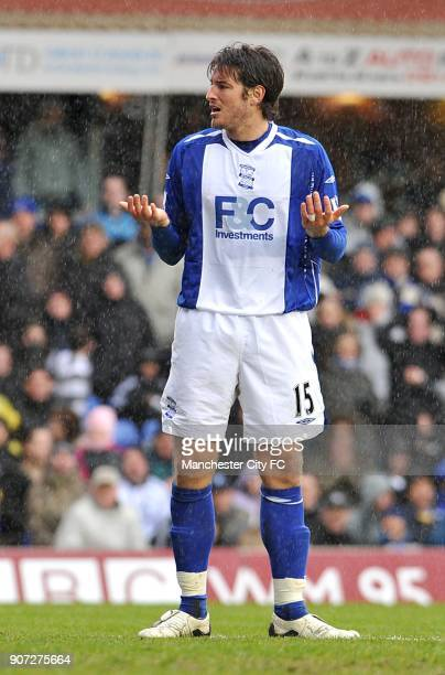 Barclays Premier League Birmingham City v Manchester City St Andrew's Birmingham City's Franck Queudrue looks dejected after giving away a penalty...