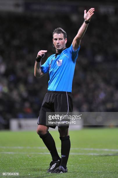 Barclays Premier League Bolton Wanderers v Manchester City Reebok Stadium Mark Clattenburg match referee