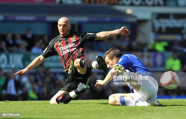Barclays Premier League Everton v Manchester City Goodison Park Manchester City's Stephen Ireland and Everton's Leighton Baines