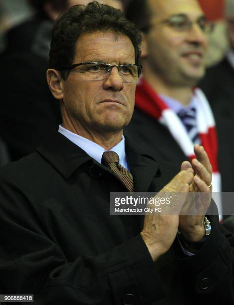 Barclays Premier League Liverpool v Manchester City Anfield England manager Fabio Capello in the stands