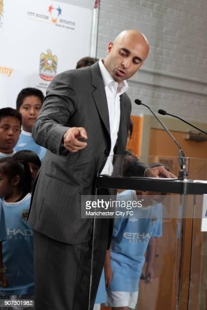 Barclays Premier League Manchester City Pre Season Tour Manchester City Lexington Academy Ambassador Al Otaiba at the launch of the Manchester City...