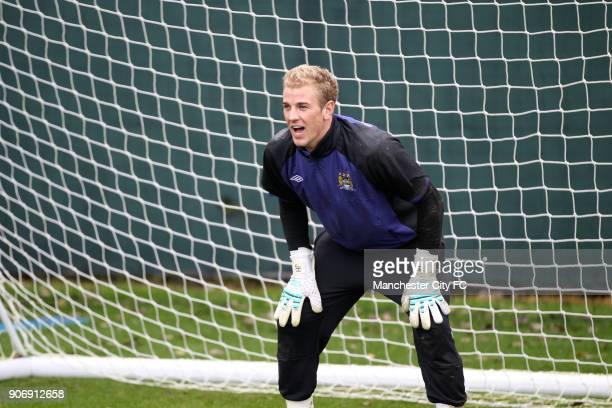 Barclays Premier League Manchester City Training Carrington Training Ground Manchester City goalkeeper Joe Hart in training
