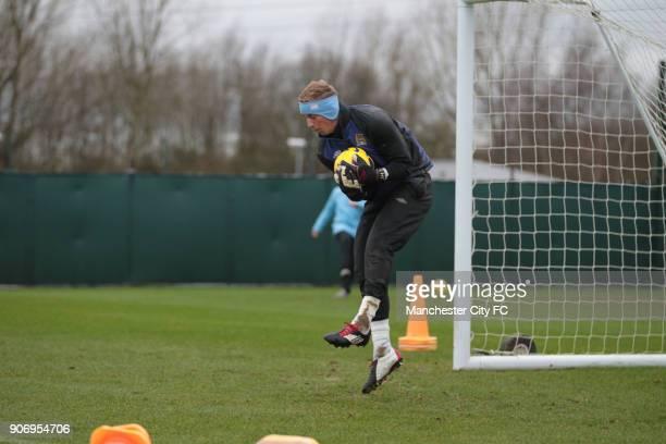 Barclays Premier League Manchester City Training Carrington Training Ground Manchester City's Joe Hart