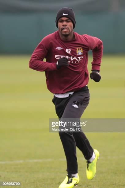 Barclays Premier League Manchester City Training Carrington Training Ground Manchester City's Abdul Razak during training