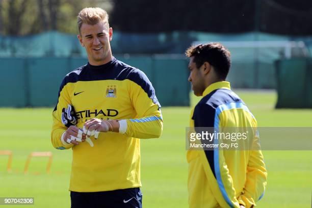 Barclays Premier League Manchester City Training Carrington Training Ground Manchester City Goalkeeper Joe Hart during training
