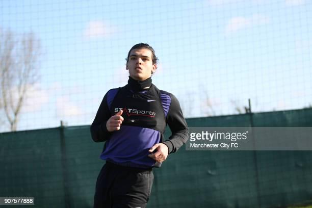Barclays Premier League Manchester City Training Carrington Training Ground Karim Rekik Manchester City