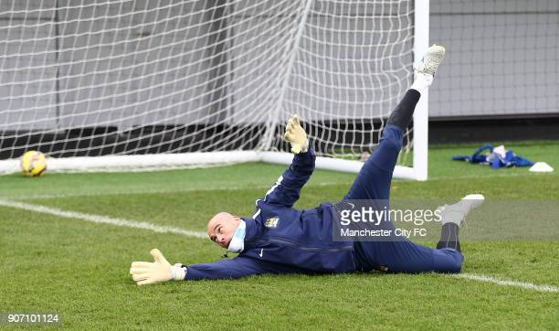 Barclays Premier League Manchester City Training City Football Academy Manchester City's Willy Caballero