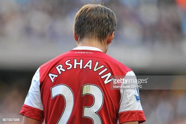 Barclays Premier League Manchester City v Arsenal City of Manchester Stadium Andrey Arshavin Arsenal