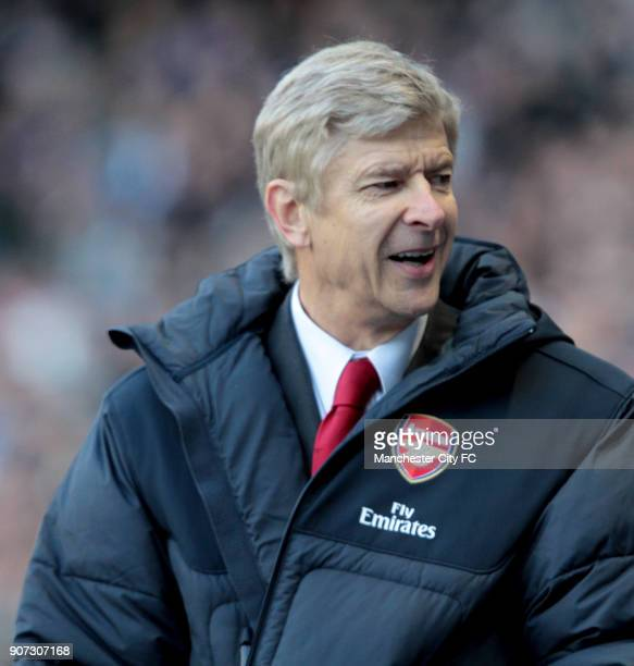 Barclays Premier League Manchester City v Arsenal Eastlands Arsene Wenger Arsenal manager