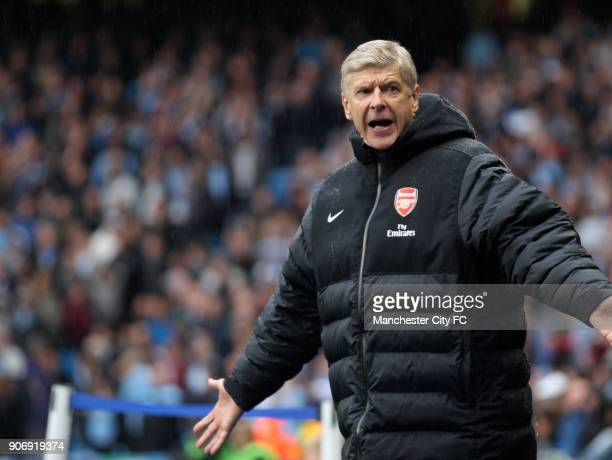 Barclays Premier League Manchester City v Arsenal Etihad Stadium Arsene Wenger Arsenal manager