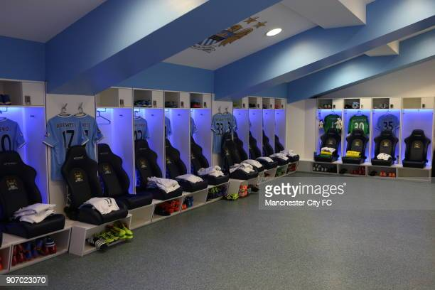 Barclays Premier League Manchester City v Chelsea Etihad Stadium Manchester City dressing room before the game against Chelsea