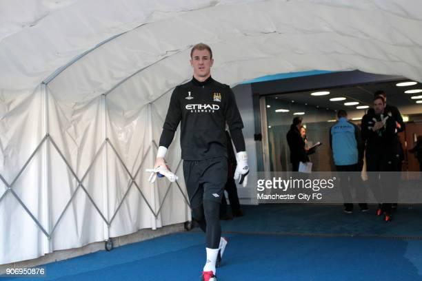 Barclays Premier League Manchester City v Everton Etihad Stadium Manchester City goalkeeper Joe Hart before kickoff
