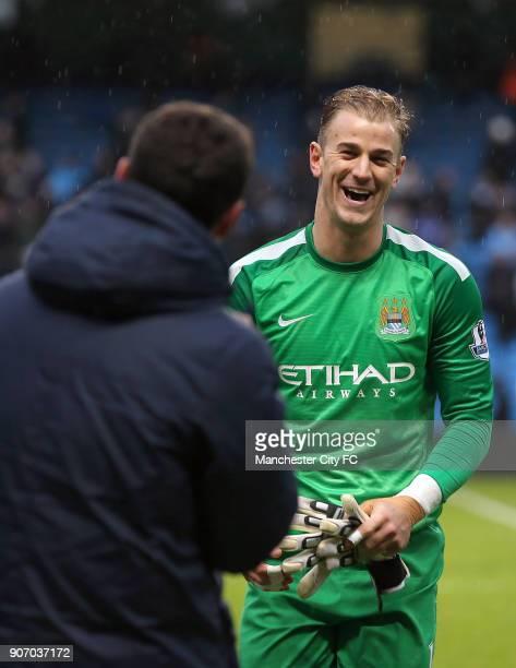 Barclays Premier League Manchester City v Fulham Etihad Stadium Manchester City's goalkeeper Joe Hart after the game