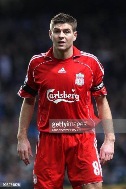 Barclays Premier League Manchester City v Liverpool City of Manchester Stadium Steven Gerrard Liverpool