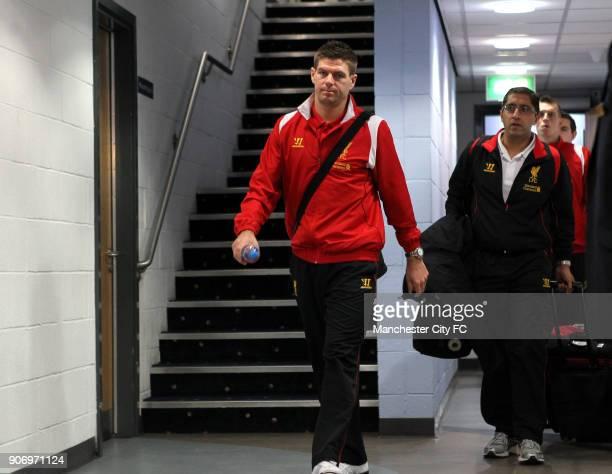 Barclays Premier League Manchester City v Liverpool Etihad Stadium Liverpool's Steven Gerrard before the match
