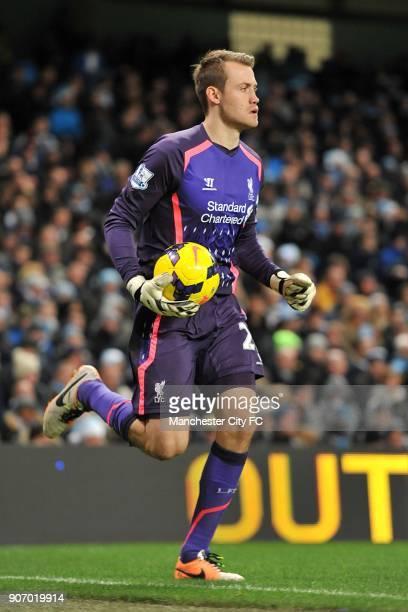 Barclays Premier League Manchester City v Liverpool Etihad Stadium Simon Mignolet Liverpool goalkeeper