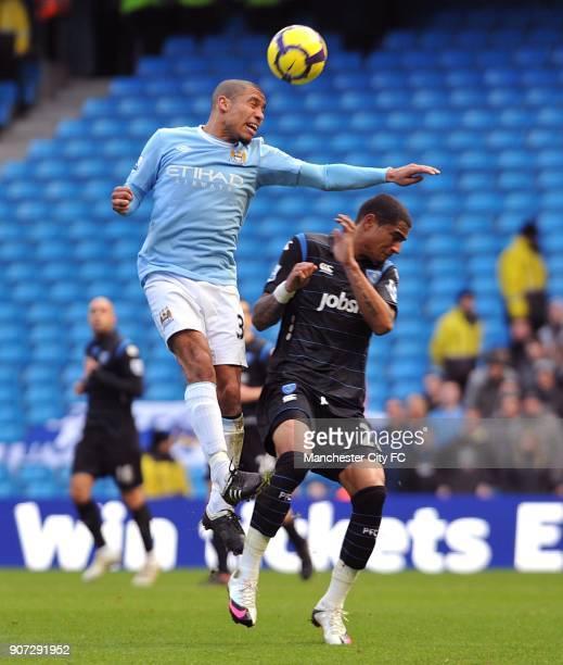 Barclays Premier League Manchester City v Portsmouth City of Manchester Stadium Portsmouth's KevinPrince Boateng and Manchester City's Nigel De Jong...