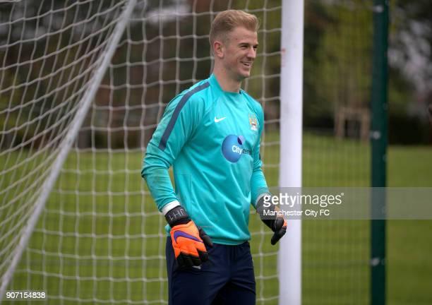 Barclays Premier League Manchester City v Queens Park Rangers Manchester City Training Thursday City Football Academy Manchester City goalkeeper Joe...