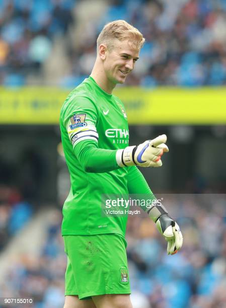 Barclays Premier League Manchester City v Queens Park Rangers Etihad Stadium Manchester City goalkeeper Joe Hart is all smiles
