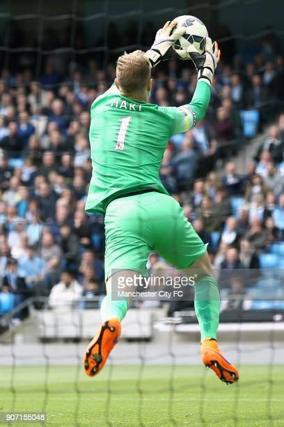 Barclays Premier League Manchester City v Queens Park Rangers Etihad Stadium Manchester City's Joe Hart catches the ball