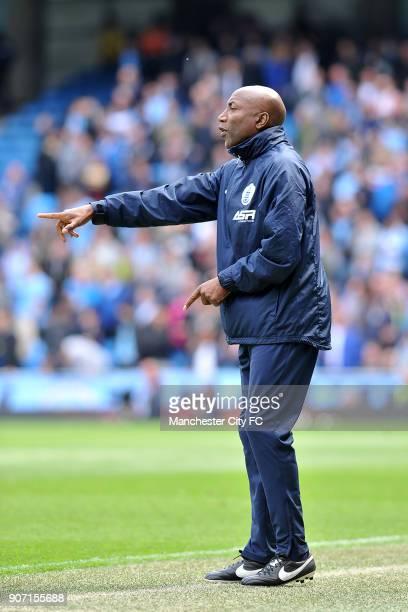 Barclays Premier League Manchester City v Queens Park Rangers Etihad Stadium QPR manager Chris Ramsey during the Barclays Premier League match