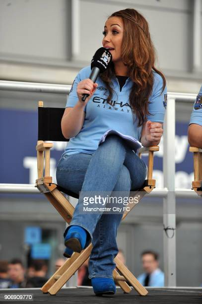 Barclays Premier League Manchester City v Southampton Etihad Stadium Natalie Pike in City Square before the match