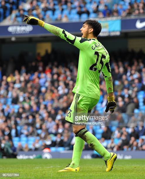 Barclays Premier League Manchester City v Southampton Etihad Stadium Paulo Gazzaniga Southampton