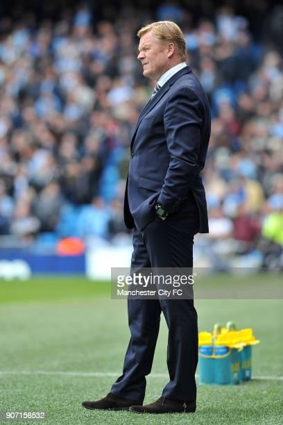 Barclays Premier League Manchester City v Southampton Etihad Stadium Southampton manager Ronald Koeman during the Barclays Premier League match...