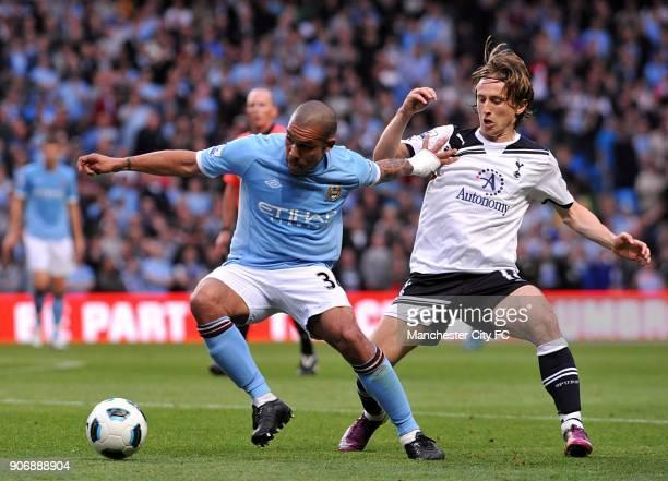 Barclays Premier League Manchester City v Tottenham Hotspur City of Manchester Stadium Manchester City's Nigel De Jong and Tottenham Hotspur's Luka...