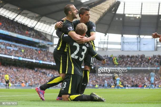 Barclays Premier League Manchester City v Tottenham Hotspur Etihad Stadium Tottenham Hotspur's Christian Eriksen celebrates scoring his sides first...