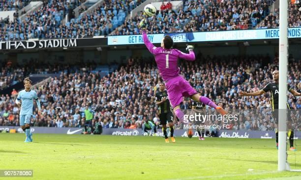 Barclays Premier League Manchester City v Tottenham Hotspur Etihad Stadium Tottenham Hotspur's Hugo Lloris in action