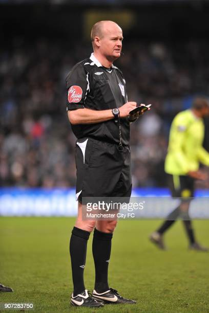 Barclays Premier League Manchester City v Wigan Athletic City of Manchester Stadium Lee Mason referee