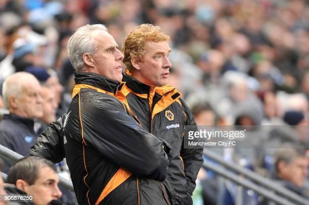 Barclays Premier League Manchester City v Wolverhampton Wanderers City of Manchester Stadium Wolverhampton Wanderers' manager Mick McCarthy with Club...