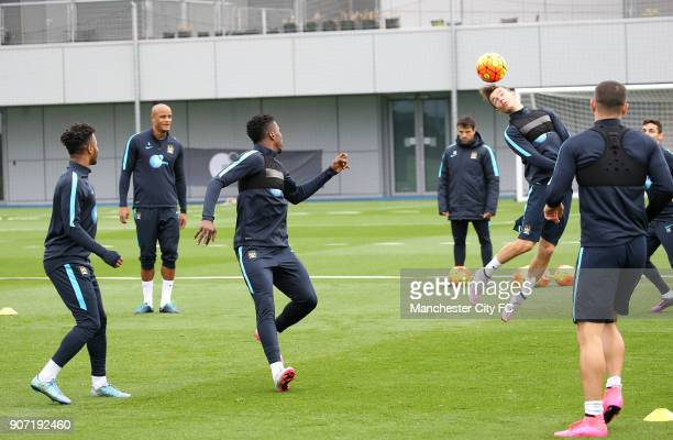 Barclays Premier League Manchester United v Manchester City Manchester City Training City Football Academy Manchester City's Bersant Celina during...