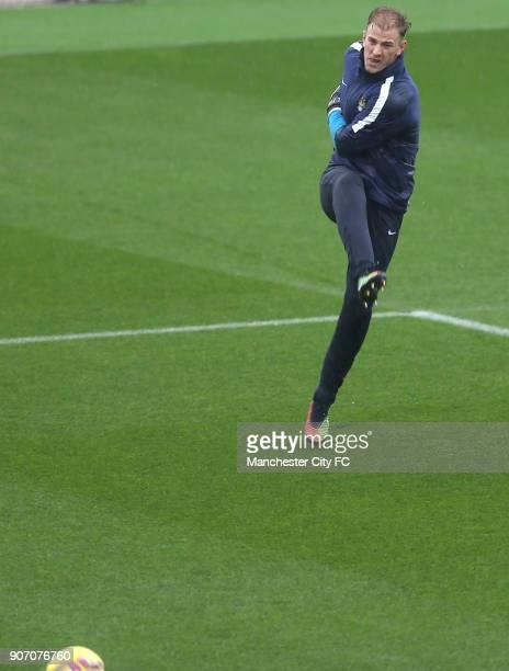Barclays Premier League Queens Park Rangers v Manchester City Manchester City Training Manchester City goalkeeper Joe Hart during training