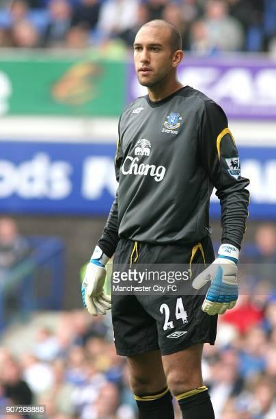 FA Barclays Premiership Everton v Manchester City Goodison Park Tim Howard Everton goalkeeper