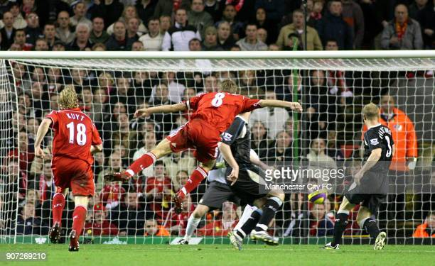 FA Barclays Premiership Liverpool v Manchester City Anfield Steven Gerrard scores the only goal of the game