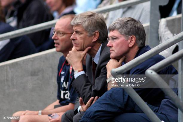 FA Barclays Premiership Manchester City v Arsenal City Of Manchester Stadium Arsene Wenger Arsenal manager