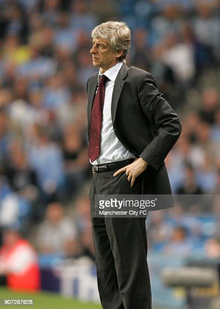 FA Barclays Premiership Manchester City v Arsenal The City of Manchester Stadium Arsene Wenger Arsenal manager