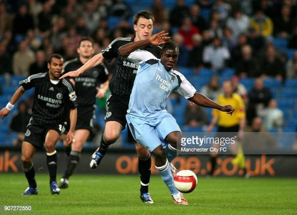 FA Barclays Premiership Manchester City v Chelsea The City of Manchester Stadium Chelsea's John Terry and Manchester City's Micah Richards