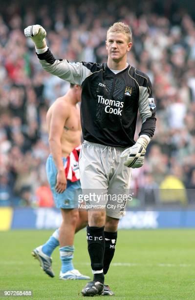 FA Barclays Premiership Manchester City v Sheffield United The City of Manchester Stadium Joe Hart Manchester City goalkeeper