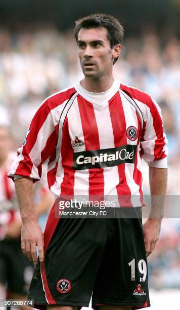 FA Barclays Premiership Manchester City v Sheffield United The City of Manchester Stadium Keith Gillespie Sheffield United