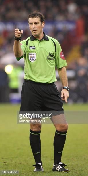 FA Barclays Premiership Sheffield United v Manchester City Bramall Lane Referee Mark Clattenburg