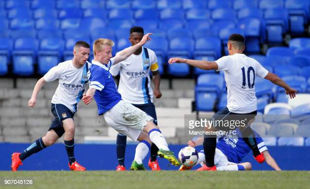 Barclays U18 Premier League Final Manchester City v Everton Goodison Park Everton's Harry Charsley scores his sides first goal of the match