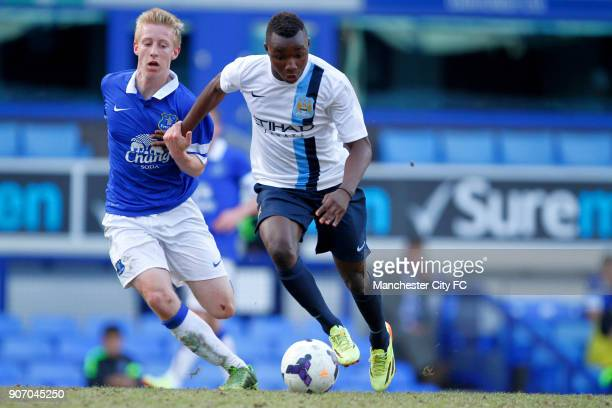Barclays U18 Premier League Final Manchester City v Everton Goodison Park Manchester City's Thierry Ambrose right and Everton's Harry Charsley left...