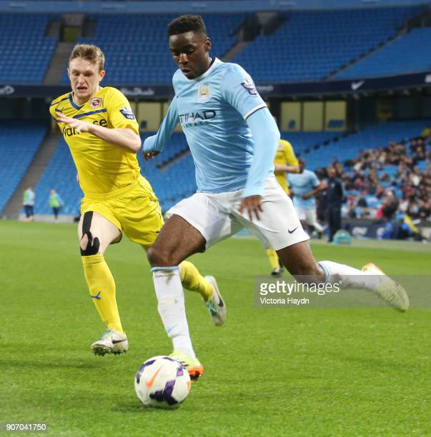 Barclays U21 Premier League Cup Final First Leg Manchester City v Reading Etihad Stadium Manchester City's Devante Cole in action