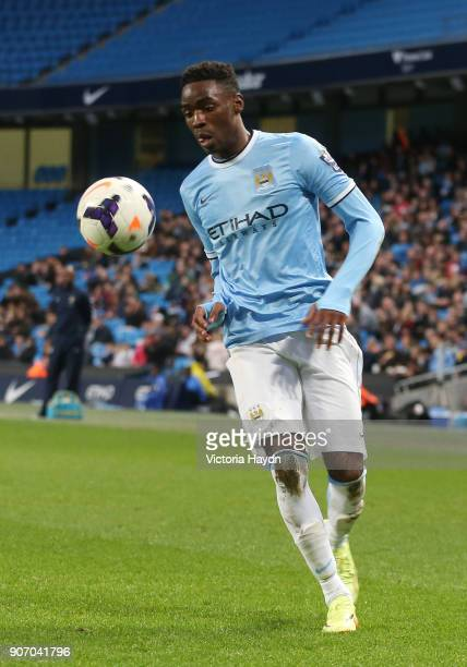 Barclays U21 Premier League Cup Final First Leg Manchester City v Reading Etihad Stadium Manchester City's Devante Cole controlling the ball
